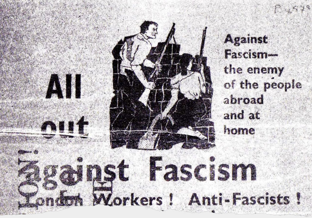 Flyer distributed by the Communist Party